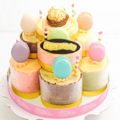法式馬卡龍幸福城堡蛋糕