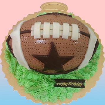 橄欖球3D造型蛋糕