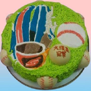 棒球(3D球+手套)造型蛋糕