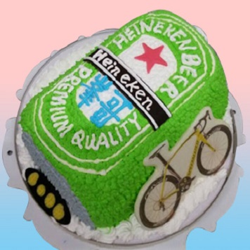 海尼根啤酒罐3D蛋糕