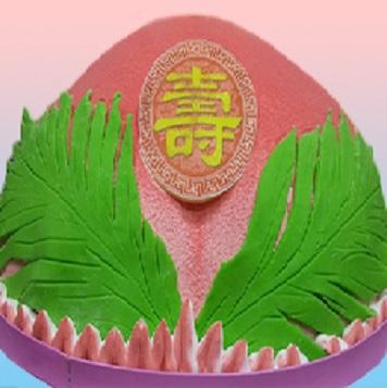 萬壽桃祝壽蛋糕