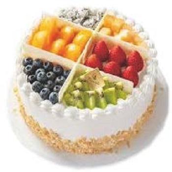 義式冰淇淋-水果珠寶盒蛋糕(6格)