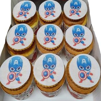 美國隊長-數位杯子蛋糕12入