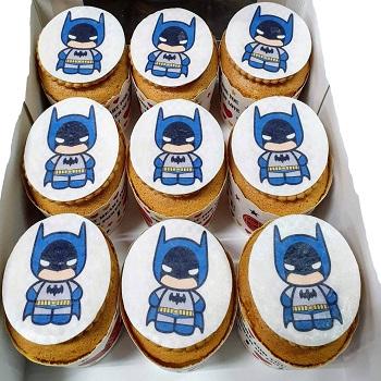 蝙輻俠-數位杯子蛋糕12入
