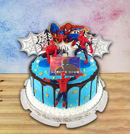蜘蛛人公仔蛋糕