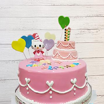 凱蒂貓手捏公仔3D蛋糕