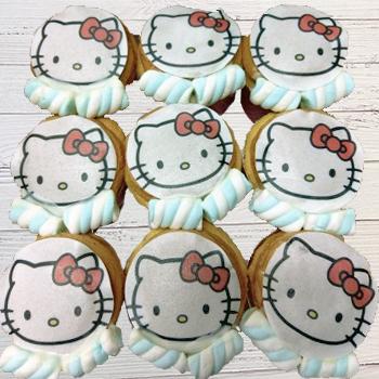 Kitty-數位杯子蛋糕12入