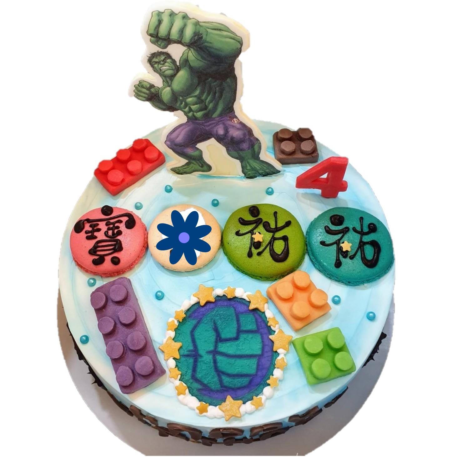巨人浩克數位立體蛋糕