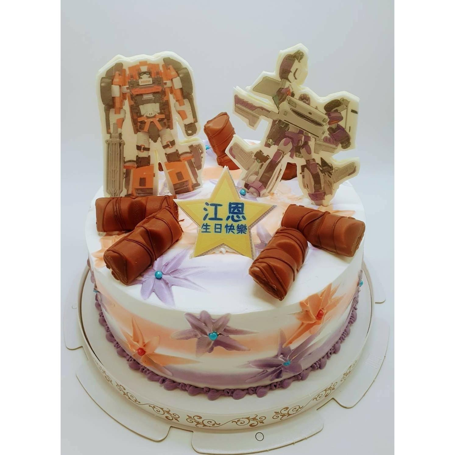 機器戰士數位立體蛋糕