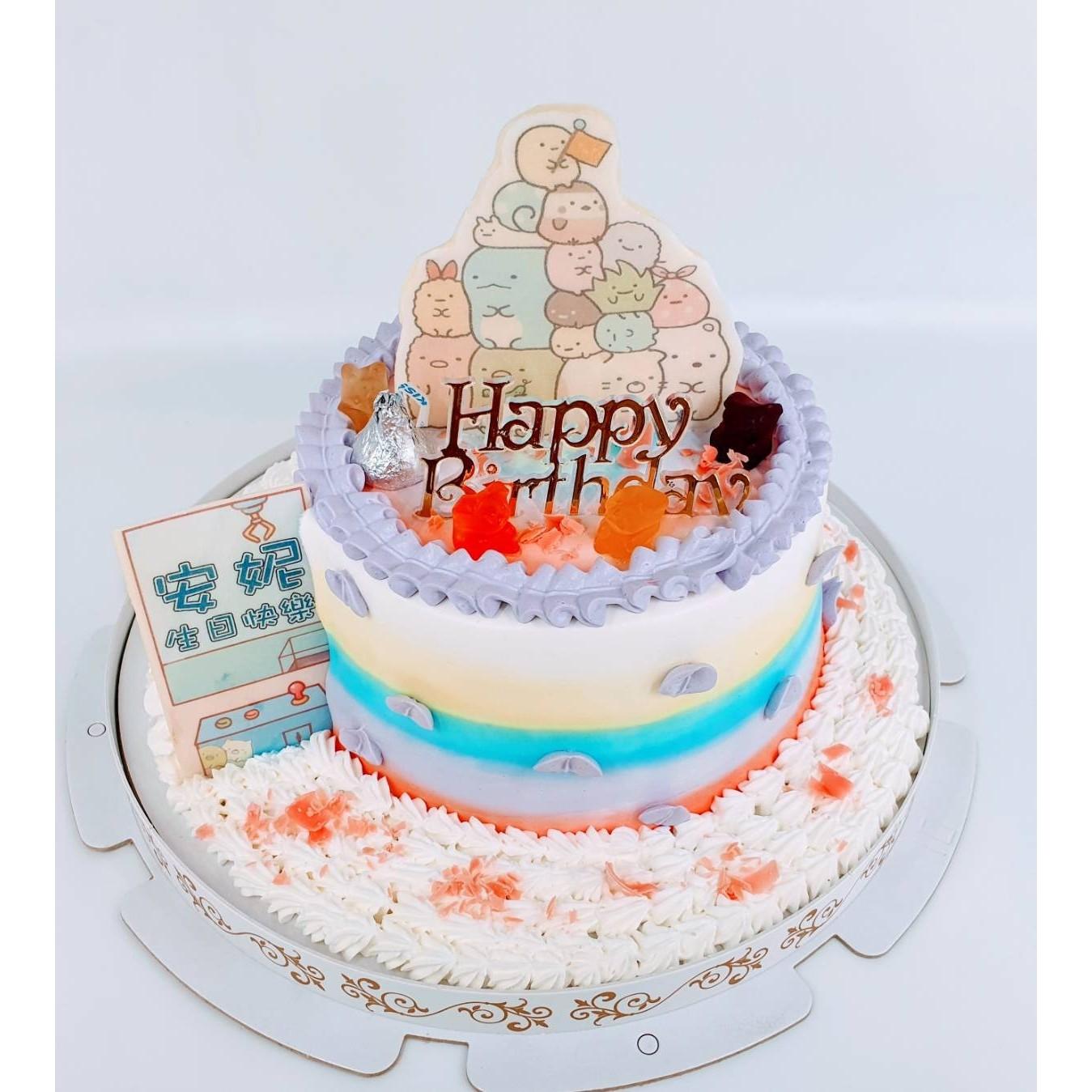 角落生物數位立體蛋糕