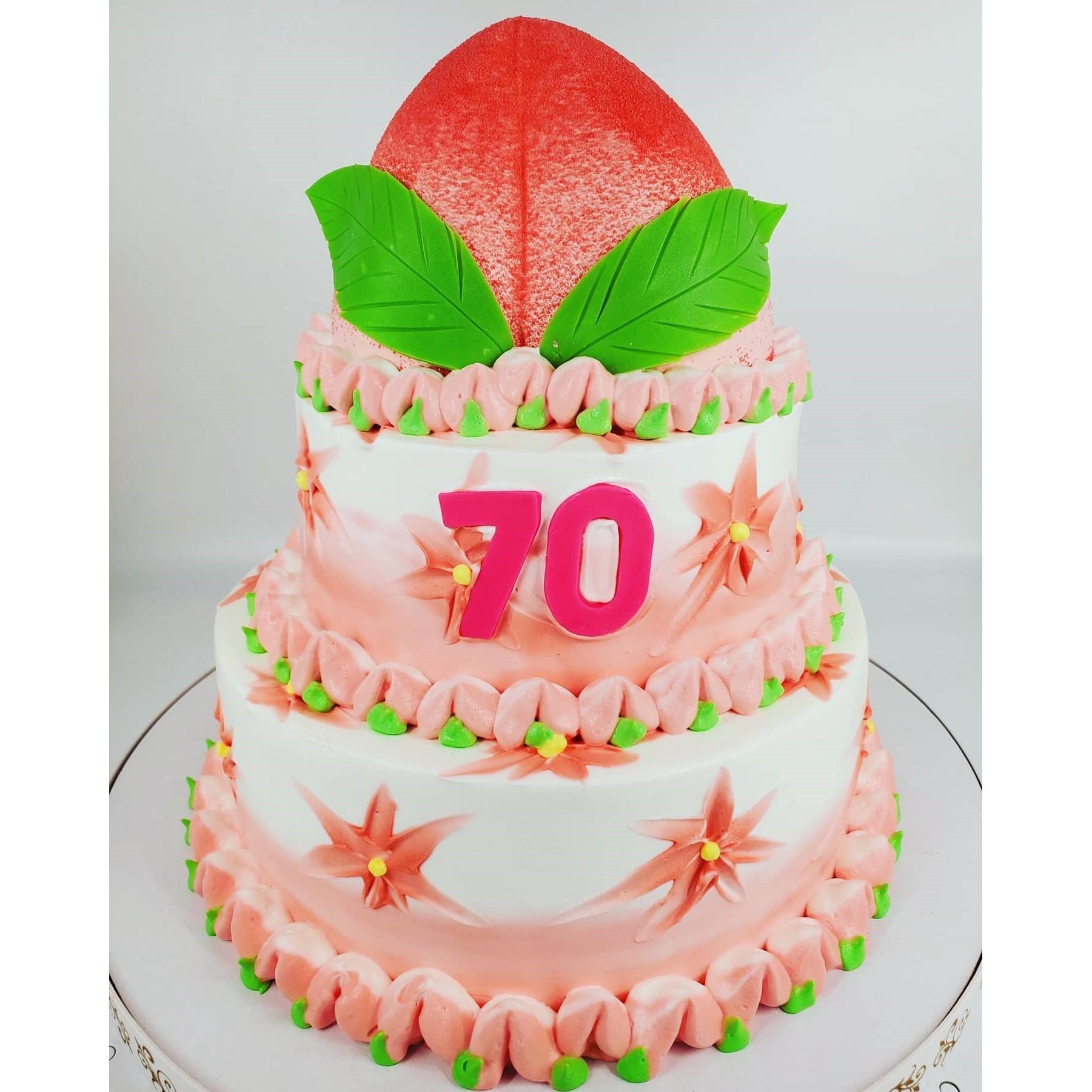 長壽賀歲10+8+6吋3層蛋糕