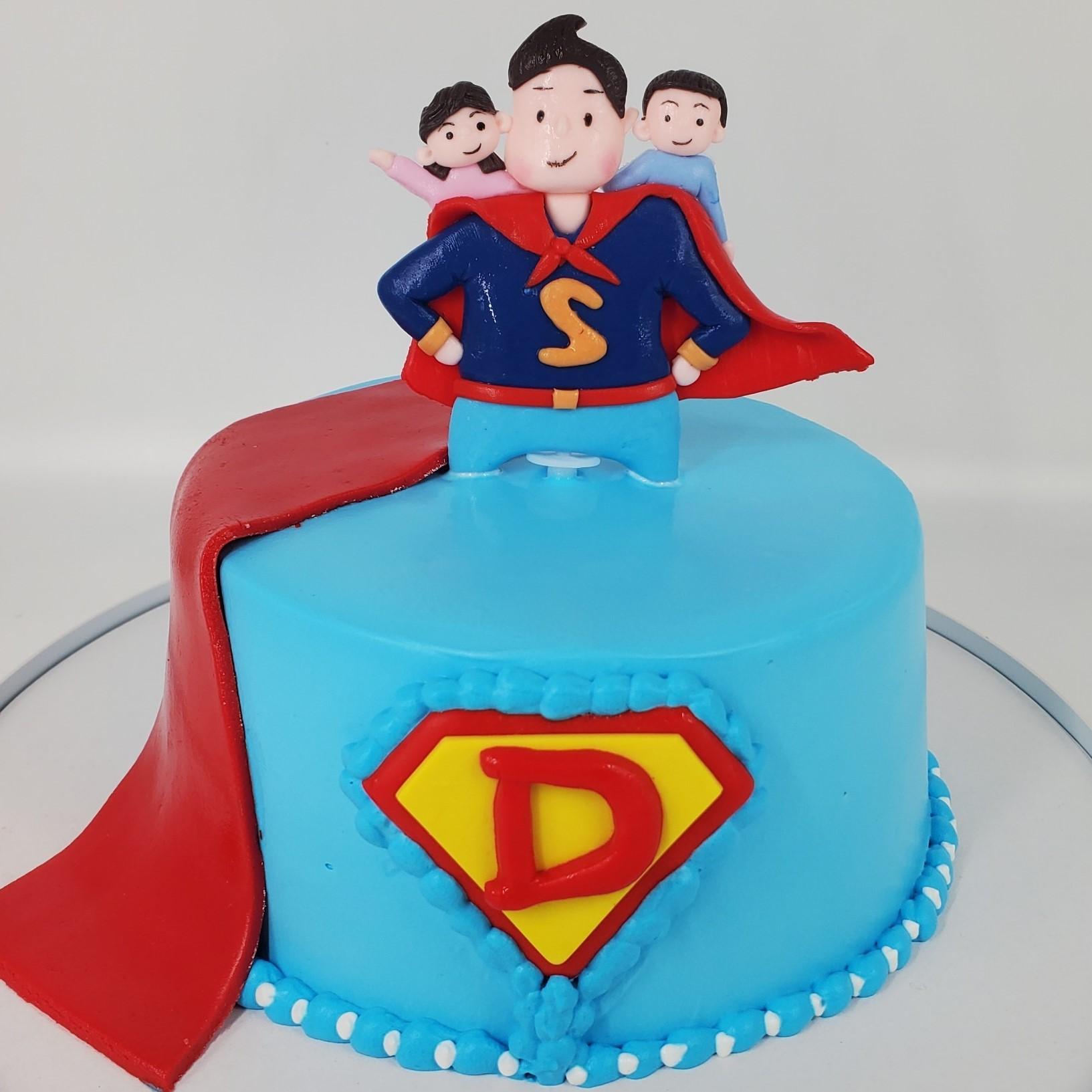 超人爸爸(軟陶蛋糕)