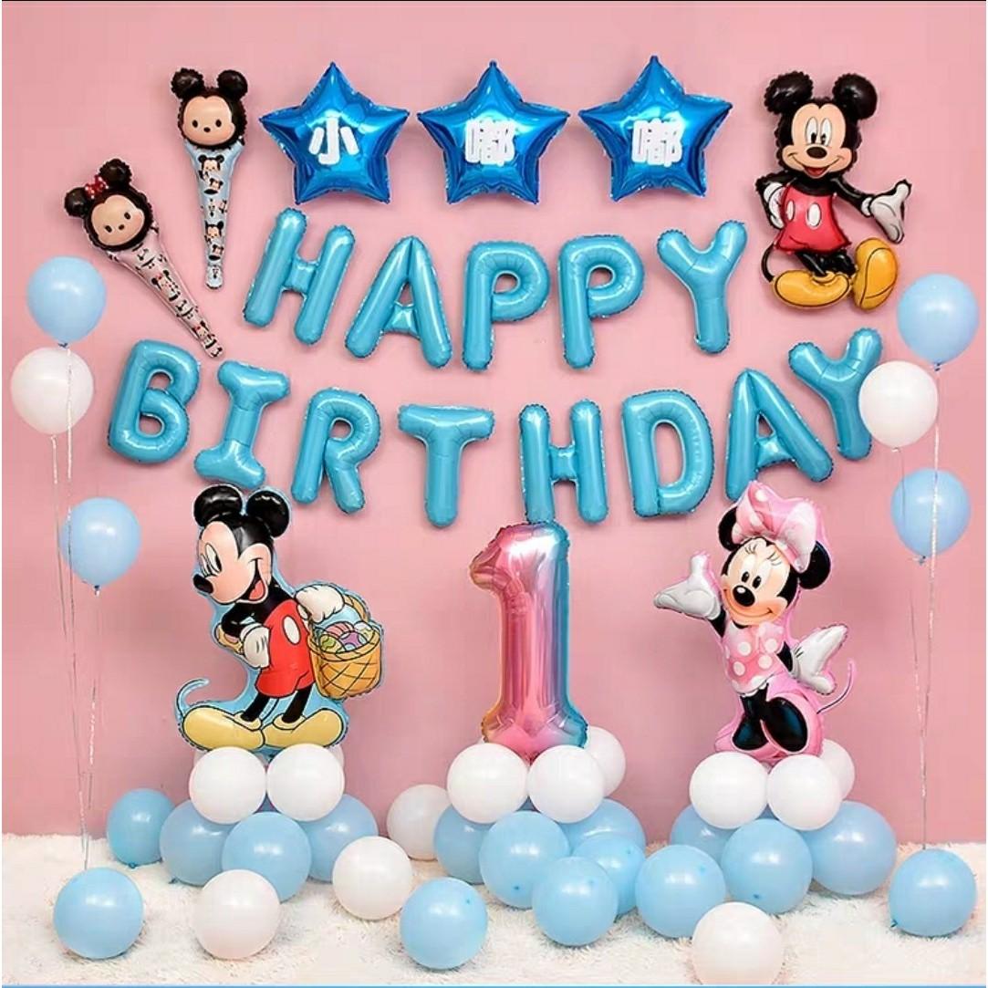 卡通周歲氣球~米老鼠