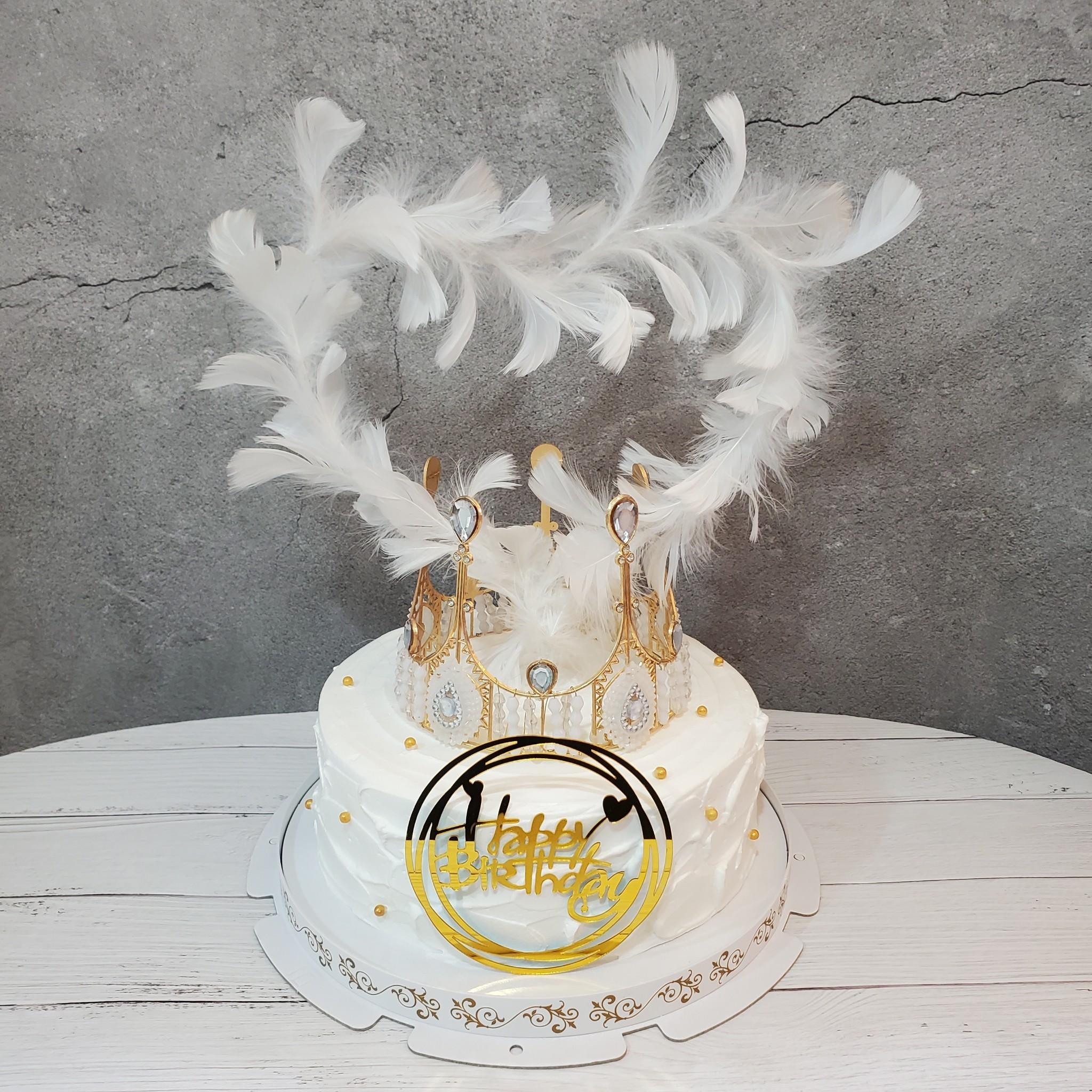 法式簡約冠羽蛋糕